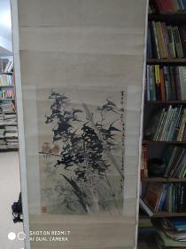 福建著名画家高季笙和福州著名画家  福州美协副主席杨玉勋合作作品   作品画心 77.44cm. 早期参展过作品保真   包退