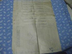 1978年3月县毛纺厂各车间夜餐粮(发放)记录【经济史料】