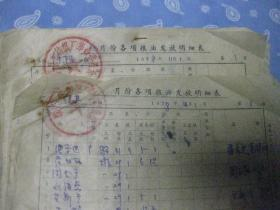 1978年11-12月县毛纺厂各项粮油发放明细表【经济史料 有厂革命委员会公章 私章】