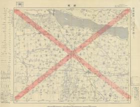 1934年《郑县》(今郑州,民国郑州老地图、郑州地图、郑州市老地图、郑州市地图、郑县老地图、郑县地图),日军军用地图,绘制详细,图例繁多,请看图片。郑州地理地名历史变迁重要史料。原图高清复制,裱框后,风貌极佳。