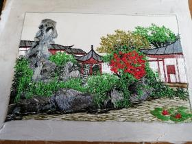汴绣风景图