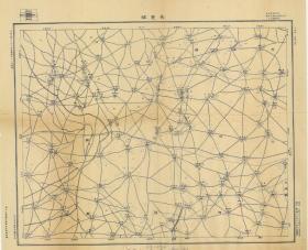 民国十八年(1929年)《任丘老地图》图题为《长丰镇》(任丘文安河间老地图),图中包含文安县、任丘县、河间县,比例尺为五万分之一,河北省政府建设厅测绘处测绘,文安、任丘、河间地理地名历史变迁史料。原图复制。