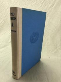 完美品相几乎全新:End Papers: Literary Recreations 纽顿《蝴蝶页——文艺随笔集》,(《藏书之爱》5本中的一本),限印1351本,作者签名题识, 精装毛边本