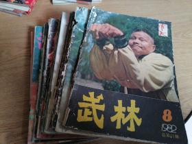 武林 (1982/8,1983/5,1986/3-4、11-12,1987/2-4、6-7、10,1988/5,1989/4、6,1990/9、11,1991/2,1992/2、7,1993/3、5,共22本合售)