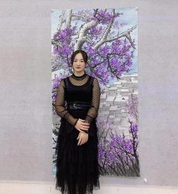 中国国画家协会会员曾娟老师精品大六尺180*70厘米百分百手绘真迹作品