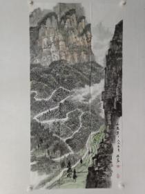 保真书画,当代山水画名家秦保家四尺整纸佳作一幅