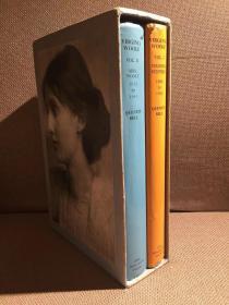 Virginia Woolf: A Biography(昆汀·贝尔《伍尔夫传》,两卷本,传记经典,配插图,精装大开本,带护封,带书匣,1973年老版本)