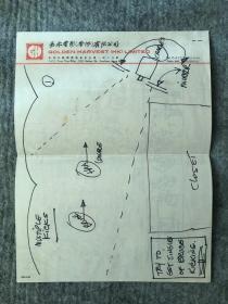 李小龙电影场景手稿二张 bruce lee