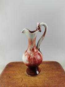 红釉瓷瓶A7869.