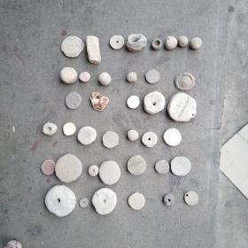 老陶瓷物件,年代最长的应该在2000年以上,最短的估计也在千年左右,永远保真,售出不退。标的是一堆的价格。