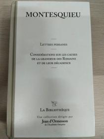 Montesquieu Lettres persanes 《波斯人信札》【法文原版,精装本,套盒完好,品相佳】  收藏佳品!
