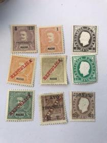 澳门古典邮票新9张不同