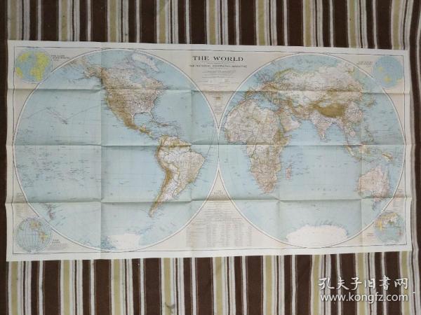 National Geographic国家地理杂志地图系列之1935年12月 The World  世界地图