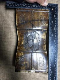 【保真】新收的玉石枕一个,老地方玉,手工篆刻。尺寸重量看图。