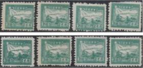 解放区邮票,1949年天津版邮运2元 行驶的火车邮差,民F一枚价