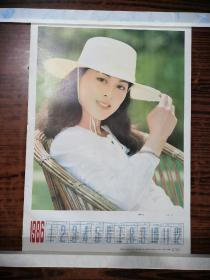影星陈肖依1986年年历画