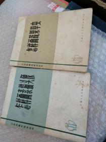 工农兵美术技法丛书:怎样画素描头像、怎样画蔬果草虫(2本合售)