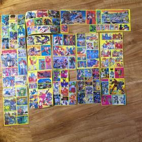 变形金刚.不干胶贴纸14张114枚(80年代)不重复 未粘过
