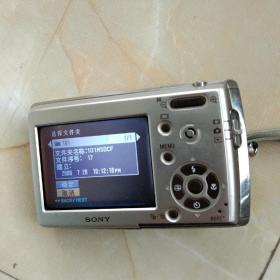 SONY数码金属照相机。