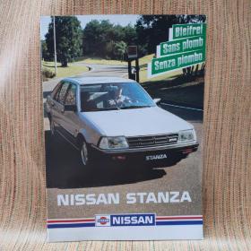1985年 日产 尼桑 斯坦扎  NISSAN  STANZA汽车 样本 宣传册 目录