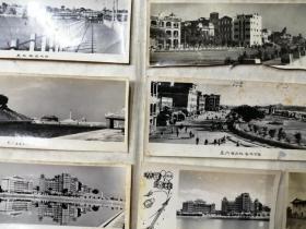 厦门轮渡、海滨公园、集美学校50年代老照片7张