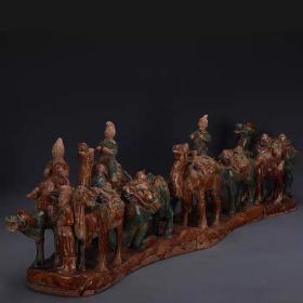 唐三彩骆驼丝绸之路