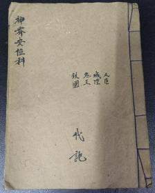 B3368 道教雷法神霄派《神霄焰口带曼塔辣图》内有安天医之法……50面大开本。