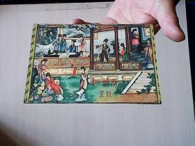 红楼梦  金陵十二钗 明信片 (1987年唐山瓷厂,1套10张)【编号:D 1 】