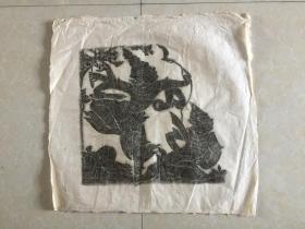 民国皮纸--原拓 凹凸立体感 很强 佛像  佛教类  规格 63x59