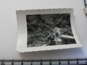 七八十年代黑白  美女  老照片 1张