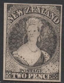 英联邦邮票,新西兰1855年维多利亚女王,宝石项链服装,印样