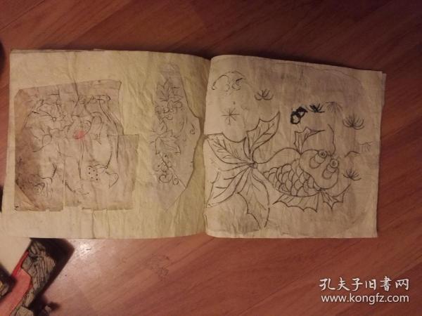 一本清代绣花样片册(很厚、内容很多、值得收藏)