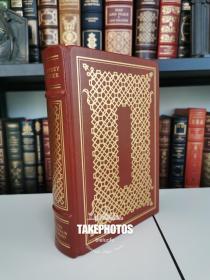 The Canterbury Tales《坎特伯雷故事集》geoffrey chaucer 乔叟经典  franklin library 1978年 真皮精装版 世界伟大作家系列丛书