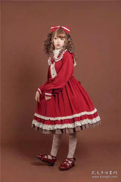 【babyblue婴儿蓝】酒红色 *浆果塔* OP Lolita连衣裙 全新带吊牌