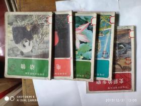 少年科学知识文库:昆虫、事前的生物、植物、电子与能、动物 5本合售