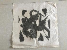 民国皮纸--原拓 凹凸立体感 很强 佛像 佛教类 规格 62x59