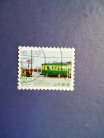 外国邮票 日本邮票    火车   (信销票)