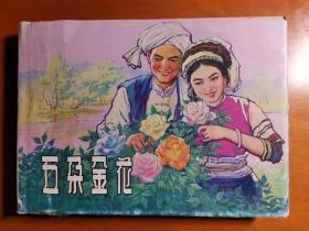 五朵金花  上海人民美术出版社32开精装连环画  宋忠元绘画 (请看品相描述)