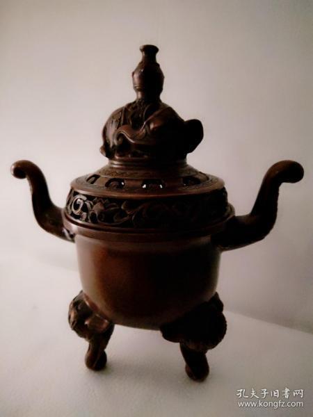 大明宣德铜香炉,纯铜的,低价出-。。
