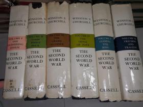 THE SECOND WORLD WAR BY WINSTON S. CHURCHILL 内有拉页彩色地图 六卷全 《第二次世界大战》 21X14.5CM