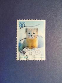 外国邮票  日本邮票   动物   (信销票)