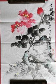 【保真】山西省美协会员、知名画家郭有树小品画:石韵花香