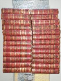 1871年 The Waverley Novels by Sir Walter Scott  25本全 Centenary Edition 含100多副插图 精美烫金封面  19.5 x 13 cm