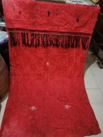 民国刺绣老门帘。170/107