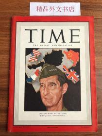 """【现货在国内、全国包顺丰、1-3天收到】1946年6月24日《时代》杂志,封面 """" 马克·韦恩·克拉克,(美国陆军四星上将,第二次世界大战期间,曾任美国第五军团和第十五集团军群司令,韩战后期的联合国军指挥官) """",内含美国国内、国际新闻、艺术、电影、教育、音乐、人物、科学、体育等内容报道(请见实物拍摄照片第2张目录页),平装,108页,尺寸:28.50 乘以 21 厘米,珍贵历史参考资料!"""