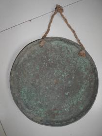 【清代铜锣】有点厚度,直径34厘米