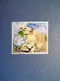 外国邮票 日本邮票   松鼠  (信销票)