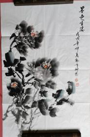 【保真】山西省美协会员、知名画家郭有树小品画:墨色生姿