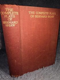 1931年签名赠言  THE COMPLETE PLAYS OF BERNARD SHAW  萧伯纳作品全集 厚本 1100多页  26X18.3CM