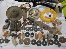 物品一堆,古钱币,镯子,古代石器,小铜器,小铜件等包邮,售出不退。